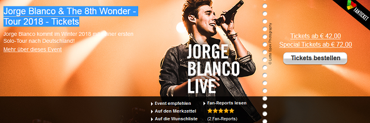 Jorge Blanco Tour - Tickets