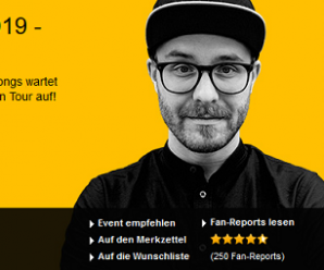 Mark Forster Tour 2019 – Tickets