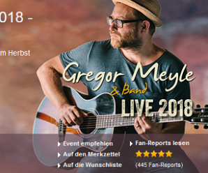 Gregor Meyle Tour – Tickets