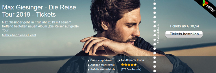 Max Giesinger Tour - Tickets